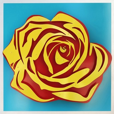 Rose - Yellow on Blue by  Kalish Editions