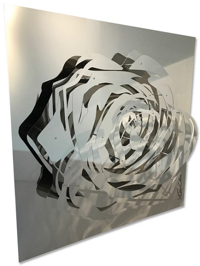 Large Rose - Mirrored Stainless by  Kalish Editions