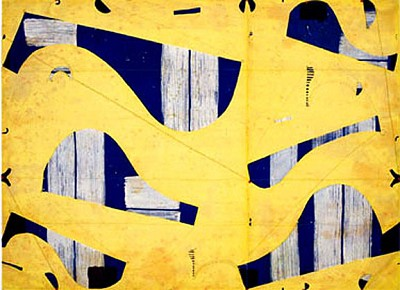 Three String Etching, Giallo by Caio Fonseca