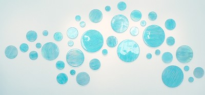 "Blue Dots (16"") by Sylvia Hommert"