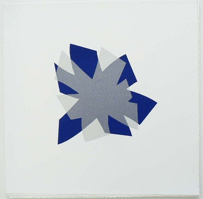 Untitled (cobalt/silver on white) by Billy Criswell