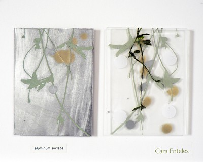 SAMPLE (aluminum surface / clear acrylic) by Cara Enteles