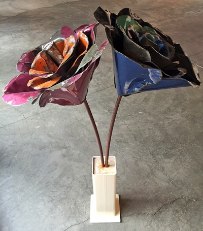 Vintage Rose Sculpture by Michael Kalish
