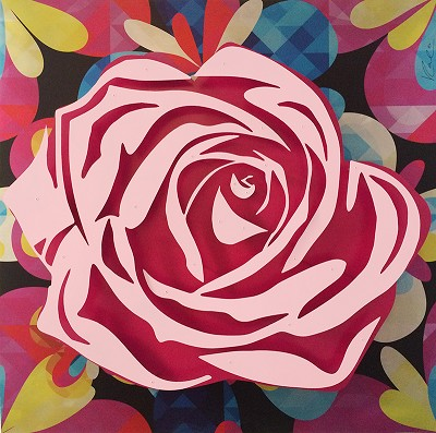 Pink Rose on Kaleidoscope by  Kalish Editions