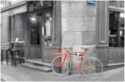 Paris Orange Bicyclette