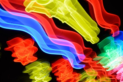 Neon Waves 1 by Michael Banks