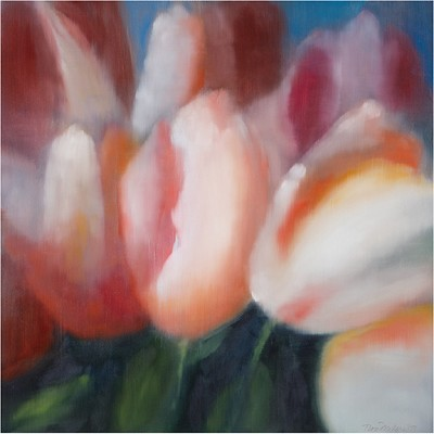 6 Tulips by Ross Bleckner