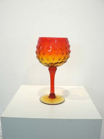 Tangerine Hobnail by  Blenko Glass Company