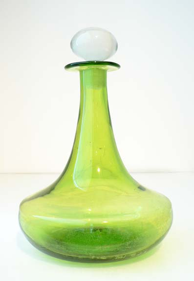 Olive Green Decanter by Blenko Glass Company