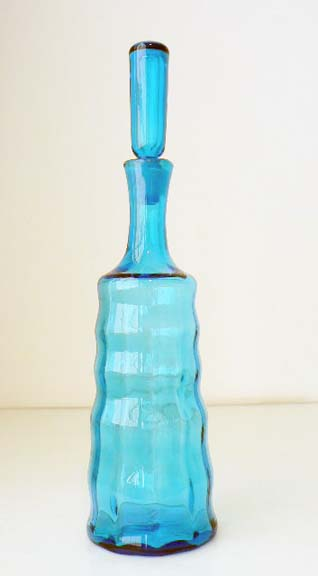 Turquoise Decanter by Blenko Glass Company