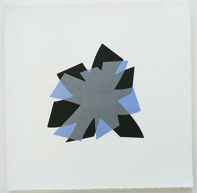 Untitled (periwinkle/black on white)