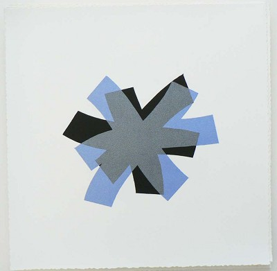 Untitled (periwinkle/black on white) by Billy Criswell