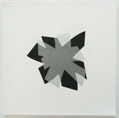 Untitled (black/silver on rice paper)