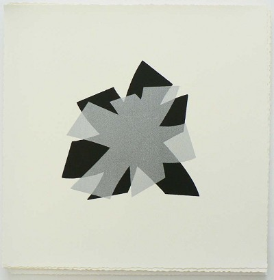 Untitled (black/silver on cream)