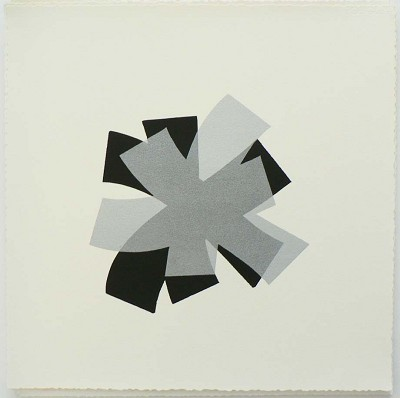 Untitled (black/silver on cream) by Billy Criswell