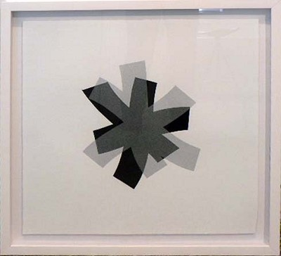 Untitled (black/silver on white) by Billy Criswell