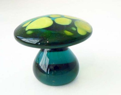 Jade and Chartreuse Mushroom by  Blenko Glass Company