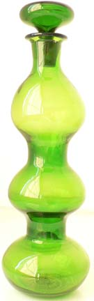 Blenko Green Art Decanter