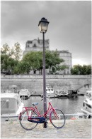 Paris Bicycle St Martin Canal by Alan Blaustein